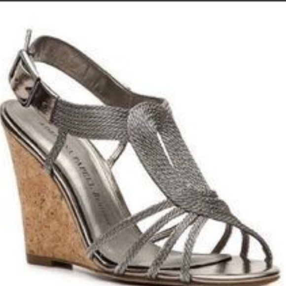 Adrianna Papell Shoes   Pewter Wedge